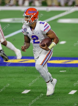 Stock Picture of Arlington, TX..Florida Gators quarterback Anthony Richardson (2) in action during the Florida Gators, versus the Oklahoma Sooners college football game, at the Goodyear Cotton Bowl, in Arlington, Texas on , 2020. (Mandatory Credit: Tommy Hays / MarinMedia.org / Cal Sport Media) (Absolute Complete photographer, and credits required)..Television, or For-Profit magazines Contact MarinMedia directly
