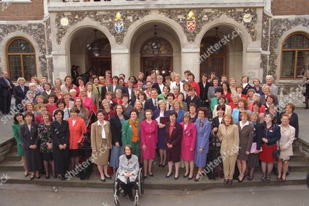 Editorial image of New Labour Prime Minister Tony Blair Welcomes His Female Mp's To Parliament. (for Key To Picture See Image No Ip*578069) (1) Christine Mccafferty (2) Helen Liddell (3) Bridget Prentice (4) Alice Mahon (5) Judith Church (6) Jackie Lawrence (7) Joan R