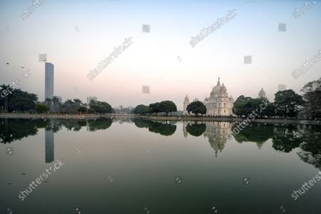 Editorial photo of World Heritage Victoria Memorial in Kolkata, India - 31 Dec 2020