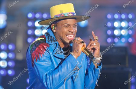 Jimmie Allen performs in Times Square on New Years Eve in New York City, New York, USA, 31 December 2020.