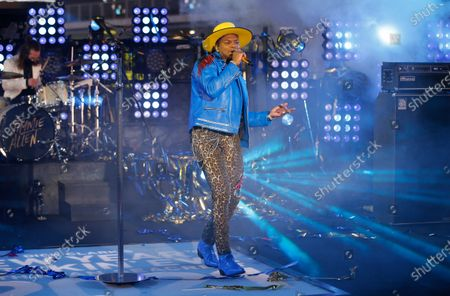 Stock Picture of Jimmie Allen performs in Times Square on New Years Eve in New York City, New York, USA, 31 December 2020.