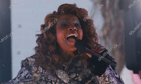 Gloria Gaynor performs in Times Square on New Years Eve in New York City, New York, USA, 31 December 2020.