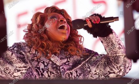 Stock Photo of Gloria Gaynor performs in Times Square on New Years Eve in New York City, New York, USA, 31 December 2020.
