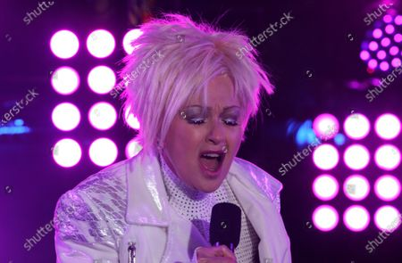 Cyndi Lauper performs in Times Square on New Years Eve in New York City, New York, USA, 31 December 2020.