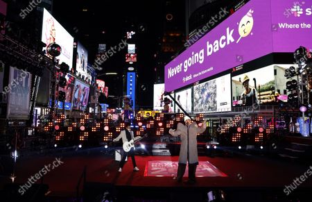 Billy Porter performs in Times Square on New Years Eve in New York City, New York, USA, 31 December 2020.