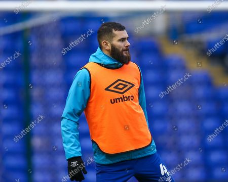 Bradley Johnson #4 of Blackburn Rovers warms up ahead of the game against Birmingham City