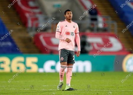 Rhian Brewster of Sheffield United; Selhurst Park, London, England; English Premier League Football, Crystal Palace versus Sheffield United.