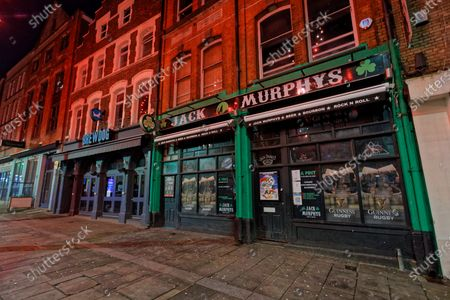 Editorial image of Areas that were busy during new year's eve, remain deserted because of the Covid-19 Coronavirus pandemic, Swansea, Wales, UK - 31 Dec 2020