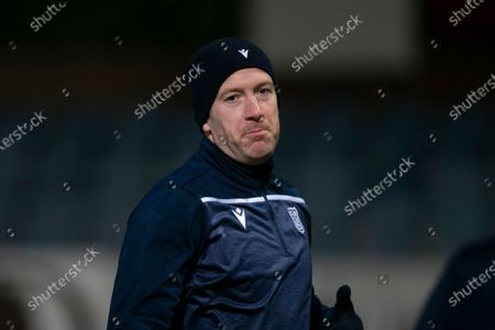Charlie Adam of Dundee during the warm up before the match; Dens Park, Dundee, Scotland; Scottish Championship Football, Dundee FC versus Heart of Midlothian.