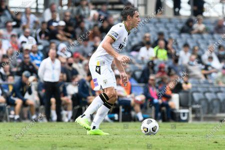 Mark Milligan of Macarthur FC; Campbelltown Stadium, Leumeah, New South Wales, Australia; A League Football, Macarthur FC versus Central Coast Mariners.