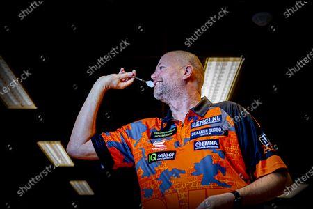 Editorial picture of Raymond van Barneveld darts training, Spijkernisse, Netherlands - 11 Dec 2020