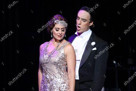 Julie Lea Goodwin in the role of Hanna Glavari and Alexander Lewis in the role of Danilo Danilovich.