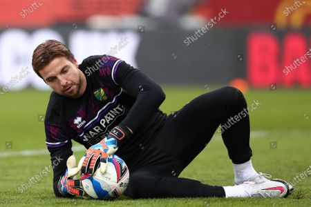 Tim Krul of Norwich City is seen warming up - Norwich City v Barnsley, Sky Bet Championship, Carrow Road, Norwich, UK - 2nd January 2020