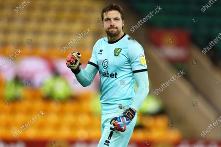 Tim Krul of Norwich City celebrates the goal from Emi Buendia of Norwich City to make it 1-0 - Norwich City v Barnsley, Sky Bet Championship, Carrow Road, Norwich, UK - 2nd January 2020