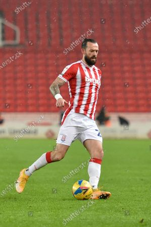 Steven Fletcher #21 of Stoke City in action during the game
