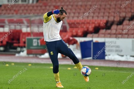 Stock Photo of Steven Fletcher #21 of Stoke City during the pre match warm up