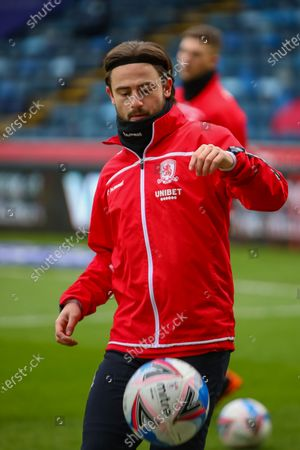 Stock Picture of Middlesbrough midfielder Patrick Roberts (19) on loan from Manchester City before the EFL Sky Bet Championship match between Wycombe Wanderers and Middlesbrough at Adams Park, High Wycombe