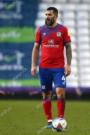 Blackburn Rovers midfielder Bradley Johnson (4) during the EFL Sky Bet Championship match between Birmingham City and Blackburn Rovers at the Trillion Trophy Stadium, Birmingham