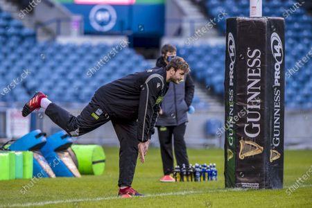 Edinburgh Rugby v Glasgow Warriors. Glasgow Warriors' Richie Gray during the warm-up