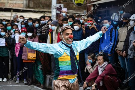 A civil society activist perform street drama on Streets of Maitighar Mandala during the protest.On December 20, the office of President Bidhya Devi Bhandari announced the dissolution of Parliament at the request of Oliís cabinet, while also anticipating general elections now scheduled for April 30 and May 10, more than a year ahead of schedule.