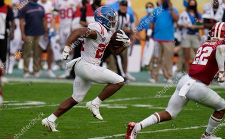 Mississippi running back Snoop Conner during the second half of the Outback Bowl NCAA college football game against Indiana, in Tampa, Fla