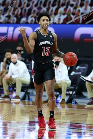 Chestnut Hill, MA, USA; Louisville Cardinals guard David Johnson (13) in action during the NCAA basketball game between Louisville Cardinals and Boston College Eagles at Conte Forum