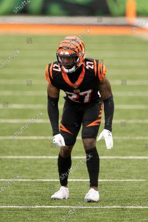 Cincinnati Bengals defensive back Tony Brown (27) during an NFL football game against the Baltimore Ravens, in Cincinnati
