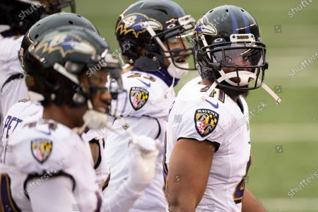 Stock Photo of Baltimore Ravens defensive back Anthony Levine (41) during an NFL football game against the Cincinnati Bengals, in Cincinnati
