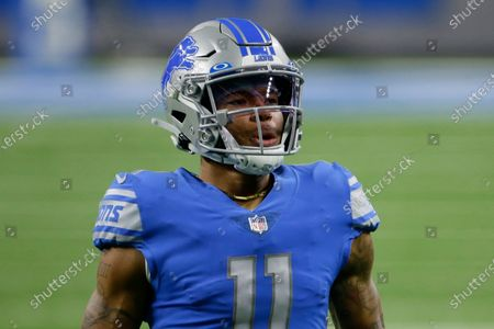 Detroit Lions wide receiver Marvin Jones is seen during the first half of an NFL football game against the Minnesota Vikings, in Detroit