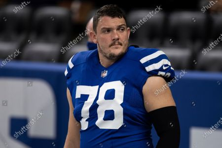 Indianapolis Colts center Ryan Kelly (78) warms up before an NFL football game against the Jacksonville Jaguars, in Indianapolis