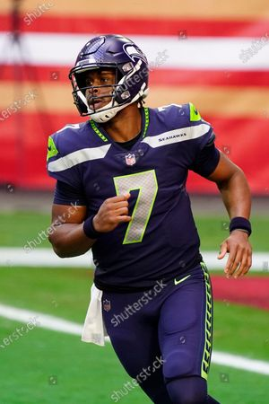 Seattle Seahawks quarterback Geno Smith (7) during an NFL football game against the San Francisco 49ers, in Glendale, Ariz