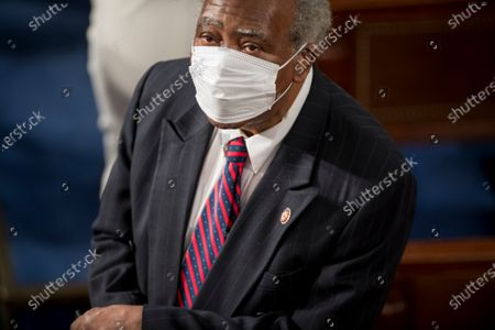 Stock Picture of United States Representative Danny Davis (Democrat of Illinois) on the floor prior to taking the oath of office in the US House Chamber in the US Capitol in Washington, DC. Due to the Covid-19 social distancing requirements, the US House is being sworn-in in seven smaller groups of 72 members or less.