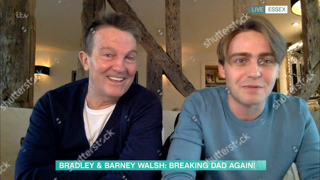 Stock Image of Bradley Walsh and Barney Walsh