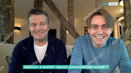 Stock Picture of Bradley Walsh and Barney Walsh