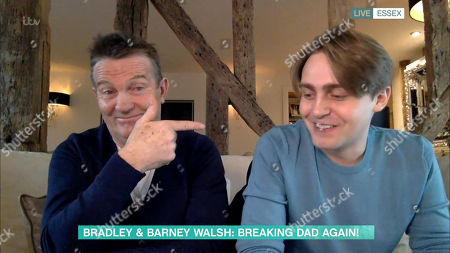 Stock Photo of Bradley Walsh and Barney Walsh