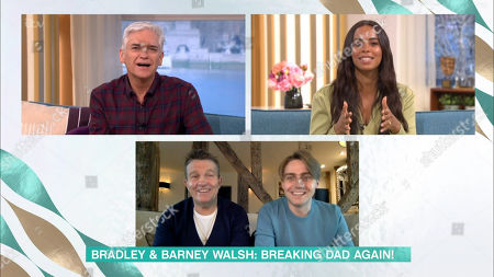 Phillip Schofield, Rochelle Humes, Bradley Walsh and Barney Walsh