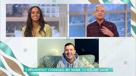 Rochelle Humes, Phillip Schofield and Celine Dion