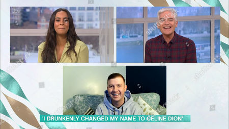 Stock Photo of Rochelle Humes, Phillip Schofield and Celine Dion