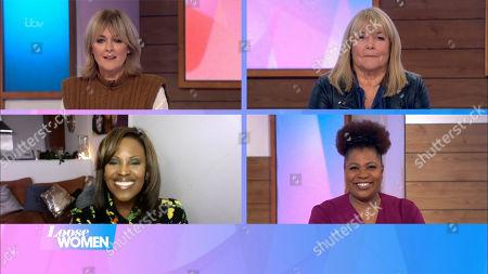 Jane Moore, Linda Robson, Kelle Bryan and Brenda Edwards