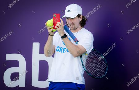 Stock Image of Tom Hill during practiceahead of the 2021 Abu Dhabi WTA Womens Tennis Open WTA 500 tournament.