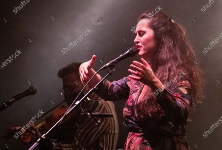 Silvia Perez Cruz performs during a concert at the Festival Actual 2021 in Logrono, Spain, 04 January 2021. Festival Actual 2021 runs from 02 to 06 January 2021 under strict health measures amid the fear of a new wave of COVID-19 coronavirus pandemic.