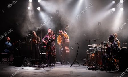 Silvia Perez Cruz (3-L) performs during a concert at the Festival Actual 2021 in Logrono, Spain, 04 January 2021. Festival Actual 2021 runs from 02 to 06 January 2021 under strict health measures amid the fear of a new wave of COVID-19 coronavirus pandemic.