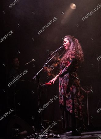Stock Image of Silvia Perez Cruz performs during a concert at the Festival Actual 2021 in Logrono, Spain, 04 January 2021. Festival Actual 2021 runs from 02 to 06 January 2021 under strict health measures amid the fear of a new wave of COVID-19 coronavirus pandemic.