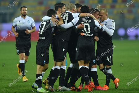 Salvatore Esposito of Spal celebrating after score the goal