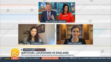 Editorial image of 'Good Morning Britain' TV Show, London, UK - 05 Jan 2021