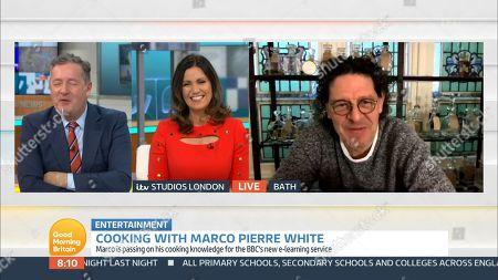 Piers Morgan, Susanna Reid and Marco Pierre White