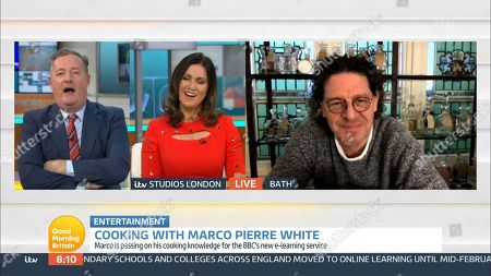 Stock Image of Piers Morgan, Susanna Reid and Marco Pierre White