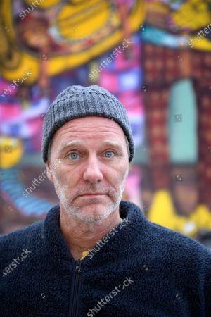 Stock Photo of Swedish writer John Ajvide Lindqvist photographed in Stockholm, Sweden