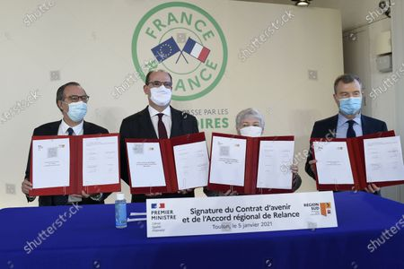 Editorial image of Ceremony marking the signing of a state-region plan contract in Toulon, France - 05 Jan 2021