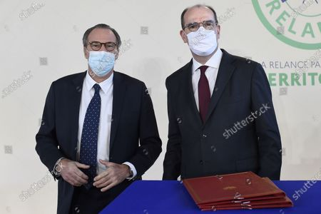 Editorial picture of Ceremony marking the signing of a state-region plan contract in Toulon, France - 05 Jan 2021